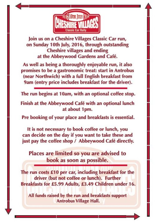 cheshire villages rally